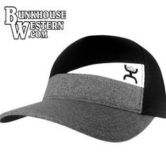 Hooey Black, Gray & White Slope, Snap Back, Trucker Cap, Cowboy Hat, Rodeo, $30.98, http://bunkhousewestern.com/Slope