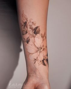 Love Wrist Tattoo, Forearm Flower Tattoo, Wrist Tattoos For Women, Forearm Tattoos, Body Art Tattoos, Small Tattoos, Cool Tattoos, Flower Tattoo Women, Forest Forearm Tattoo