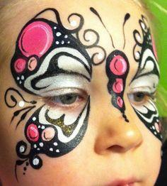 butterfly makeup face painting - pintacaritas mariposa maquillaje fantasia ♛