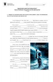 English teaching worksheets: Percy Jackson | Percy Jackson and the ...