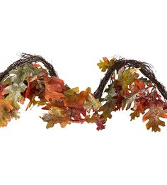 Gisela Graham Autumn Oak Leaf Garland 150CM 40232: Amazon.co.uk: Kitchen & Home