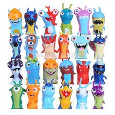 24pcs/set Anime Cartoon Slugterra Mini PVC Action Figures Toys Dolls Child Toys DSFG253