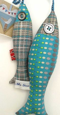 Freshly Caught Fabric Mackerel by TheBobbinBird on Etsy, £15.50
