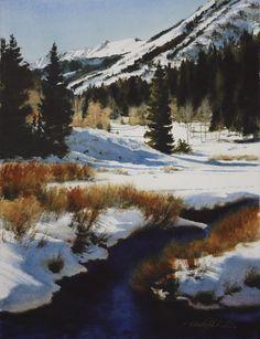 "Cardiff Basin by Robert McFarland Watercolor ~ 16"" x 12"""