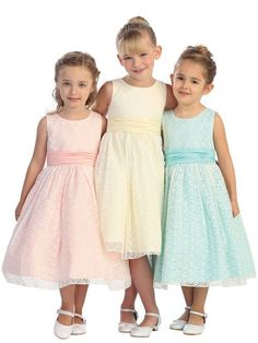 Tip Top 5620 Flower Girls Lace Dress - French Novelty