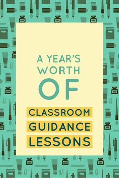 Classroom Guidance Lessons: the Year-Long Bundle Elementary School Counseling, School Social Work, School Counselor, Elementary Schools, Guidance Lessons, Self Discipline, Character Education, School Psychology, Growth Mindset