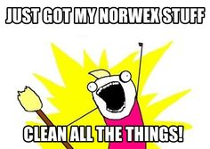 Just got my Norwex stuff! Clean all the things! www.thosecloths.com :)