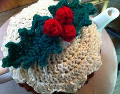 Ravelry: Christmas Pudding Tea Cozy(Cosy) pattern by Jan Henderson