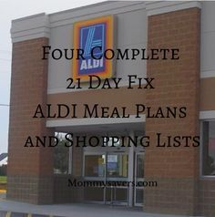 *Updated* FOUR Complete 21 Day Fix ALDI Meal Plans and Shopping Lists                                                                                                                                                                                 More