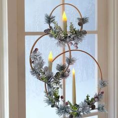 Christmas Window Decorations, Christmas Candles, Outdoor Christmas, Simple Christmas, Christmas Home, Christmas Holidays, Christmas Wreaths, Christmas Ornaments, Christmas Windows