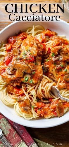 good Chicken Cacciatore is one of the most satisfying, delicious and comforting Italian dishes you can make at home. Great served with spaghetti or over polenta. good Chicken Cacciatore is one of the most satisfying, delicious and comforting Italian d. Cacciatore Recipes, Comfort Foods, Pasta Dishes, Food Dishes, Main Dishes, Best Italian Dishes, Italian Foods, Healthy Recipes, Food Dinners