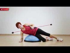 Flexibar - cviky v lehu = cviky na břicho a cviky na boky i na záda - YouTube
