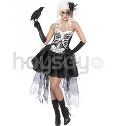 #Disfraz de #esqueleto #VonTrap. Este disfraz incluye: vestido con malla #Halloween #Disfraces #Carnaval