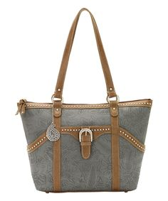 Another great find on #zulily! Denim Charlotte Zip-Top Tote by Bandana by American West #zulilyfinds
