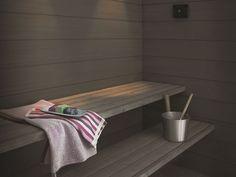 Speciale onderhoudsproducten voor uw sauna | Finnpaints specialist in houtbescherming Swedish Sauna, Sauna Design, Saunas, Entryway Bench, Lava, Storage, Bed, Modern, House