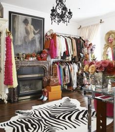 """dressing rooms and closets are cousins of course but one's a real room and one's a plain old dinky closet"""