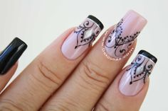 Black Nail Art, Black Nails, Gorgeous Nails, Hair And Nails, Gel Nails, Nail Designs, Make Up, Art Nails, Gel Nail Art