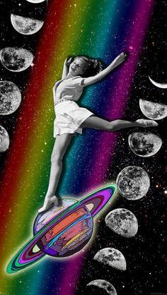 #collage #tothemoonandback by Naci Posca
