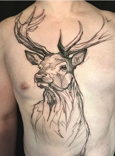 Skull tattoos are some of the most iconic and versatile tattoo ideas for guys. Skull tattoos for men can be as realistic or creative as . Head Tattoos, Skull Tattoos, Animal Tattoos, Body Art Tattoos, Sleeve Tattoos, Fox Tattoos, Hirsch Tattoos, Hirsch Tattoo Frau, Model Tattoos