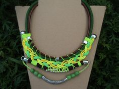handmade by Carolina Bernardo Nautical cord   bib necklace