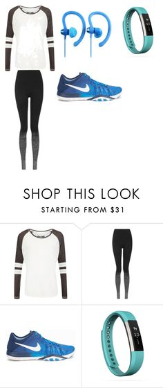 """""""Work Out Oufit"""" by starwarsqueen on Polyvore featuring Superdry, Topshop, NIKE and Fitbit"""