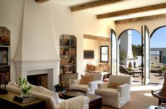 Marc Appleton gave this wonderful Santa Monica House a lift...love the outdoor fireplace...