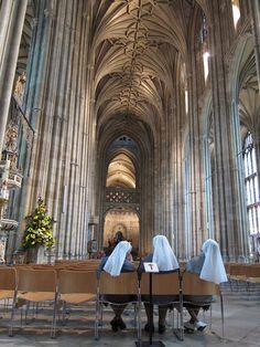 Three sisters at Canterbury (Christ church ) Cathedral