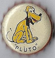 Pluto, orange drink bottle cap | Ludford Fruit Products, Inc., Hollywood, California USA