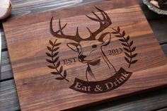 Personalized Cutting Board Wood Cutting Board with by FancyWoods, $48.70
