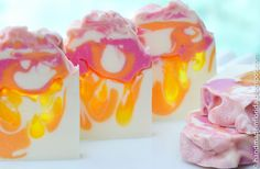 """The making of """"Sun Kissed"""", a cold process soap with melt and pour drop swirl accents. To learn more about this soap and/or my other projects, please subscri..."""