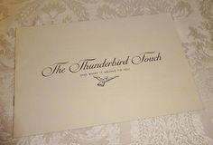 Vintage Thunderbird Sales Brochure 1961 Ford Thunderbird
