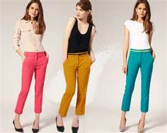 Peach jeans / capri pants | If I decide to dress up | Pinterest ...