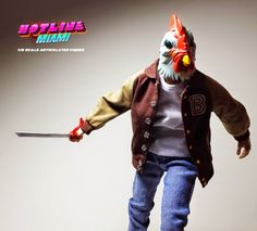 """Richard"" Jacket Hotline Miami 1/6 Scale Articulated Figure by Erick Scarecrow"