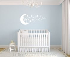 Children Wall Decal Baby Vinyl Moon Stars by LittleMooseDecals, $39.00