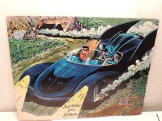 Vintage 1966 Batman Robin in the Batmobile Comic Poster via Etsy