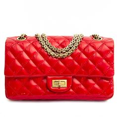 Labellov Chanel Patent Red Quilted Accordion Reissue 2.55 Flap Bag ○ Buy  and Sell Authentic Luxury ac31002f402c5