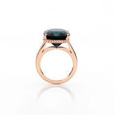 Sapphire ring by Todd Turner. Australian sapphire, diamonds in rose gold. Rare Earth: Australian Made at Courtesy of the Artist. http://courtesyoftheartist.com.au/blogs/articles/rare-earth-australian-made-2016