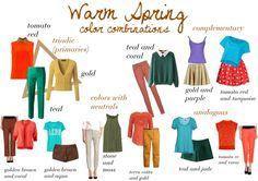 Warm Spring Color Combinations