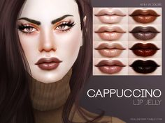 The Sims Resource: Cappuccino Lip Jelly N79 by Pralinesims • Sims 4 Downloads
