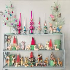 "Correna Vigil on Instagram: ""My goal is to replace all the Target deer with vintage ones....maybe next year.  #vintagedeer #vintagetreetopper #feathertree…"" Whimsical Christmas, Vintage Christmas Ornaments, Modern Christmas, Primitive Christmas, Retro Christmas, Vintage Holiday, Christmas Decorations, Holiday Decor, Christmas Past"