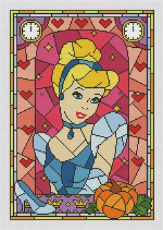 Cinderella cross stitch pattern pdf. Disney cross stitch
