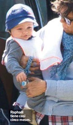 Charlotte's son, Raphael Elmaleh Casiraghi with his Nanny