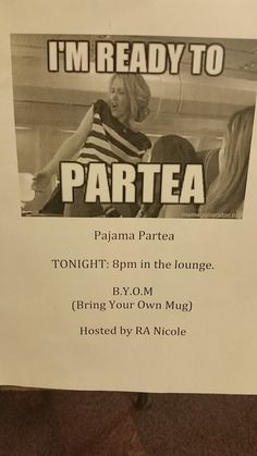 "College RA - Health and Wellness program -  Tea Party ""Partea"""