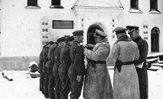 Awarding of German soldiers in Novgorod