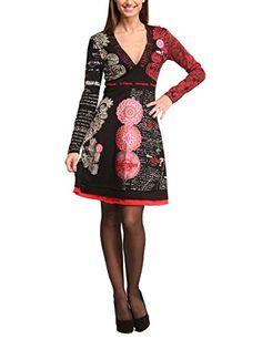 Desigual Damen Kleid VEST_TIJAT, Knielang, Gr. 34 (Herstellergröße: XS), Schwarz (NEGRO 2000)