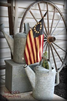 Watering cans with Flag                                                       …