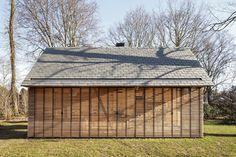 Built by Roel van Norel,Zecc Architecten in Utrecht, The Netherlands with date 2014. Images by Stijn Poelstra. In the rural area north of Utrecht a compact recreation house has been realized. The house is constructed in wood and...