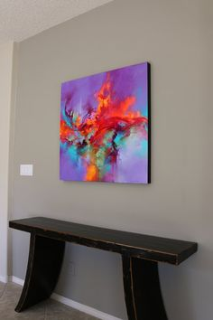 I create a diverse range of acrylic works on deep, all-wood panels (black painted edges). My main goal when painting is to create unforgettable, dynamic work. I focus on combining natural elements. Flower Painting Canvas, Painting Edges, Acrylic Paintings, New York Art, Fire Heart, Inspirational Wall Art, Finger Painting, Blue Abstract, Pictures To Paint