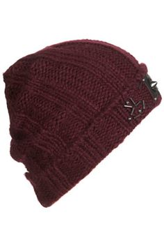 Topshop Studded Military Beanie Hat