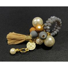 Anillo de Moda con Perla, Cristal y Medallita de San Benito